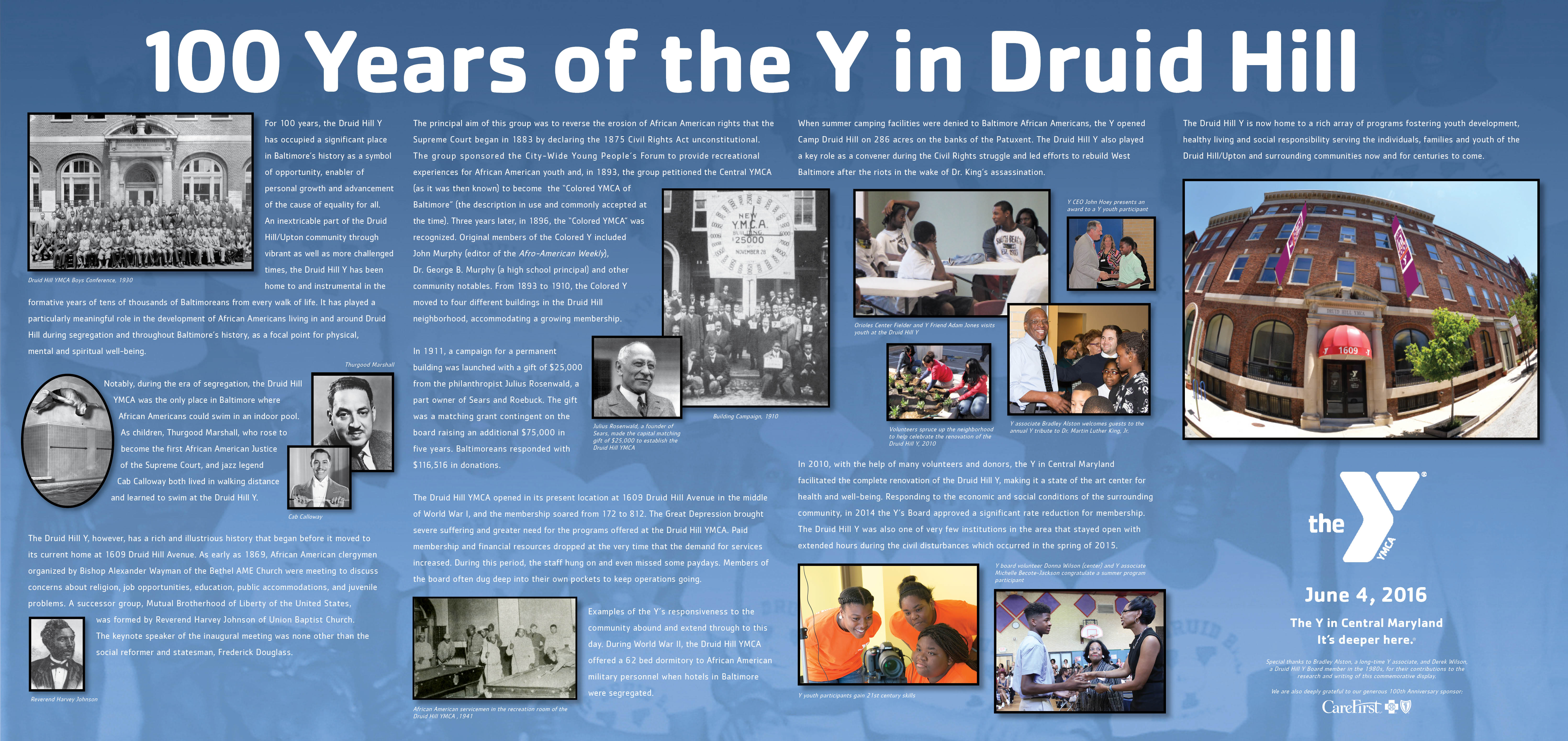 Druid Hill YMCA In Center Display