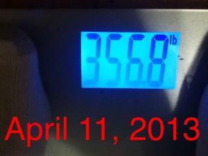 ken's intial weigh-in
